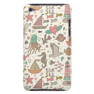 Funny Summer Pattern With Ships Barely There iPod Cases
