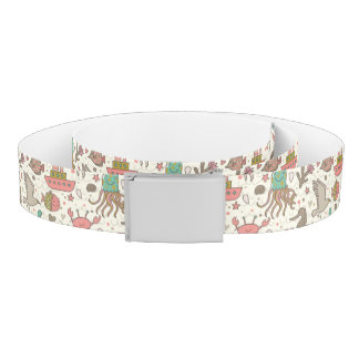 Funny Summer Pattern With Ships Belt