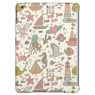 Funny Summer Pattern With Ships Case For iPad Air