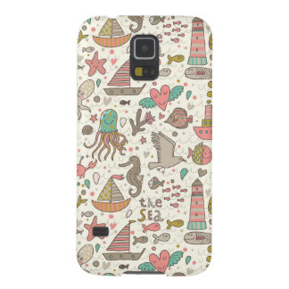 Funny Summer Pattern With Ships Galaxy S5 Cases
