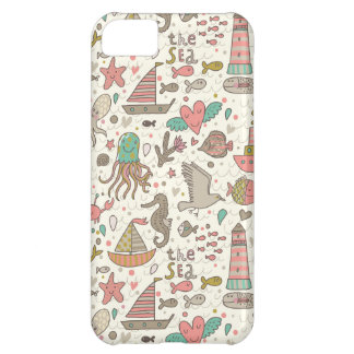 Funny Summer Pattern With Ships iPhone 5C Case