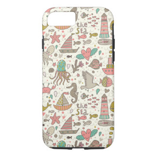 Funny Summer Pattern With Ships iPhone 8/7 Case