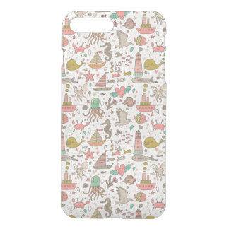 Funny Summer Pattern With Ships iPhone 8 Plus/7 Plus Case