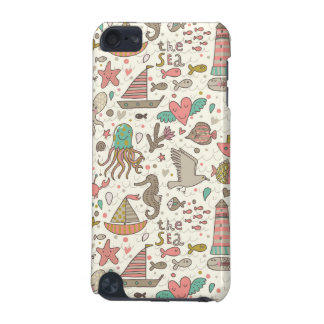 Funny Summer Pattern With Ships iPod Touch 5G Case