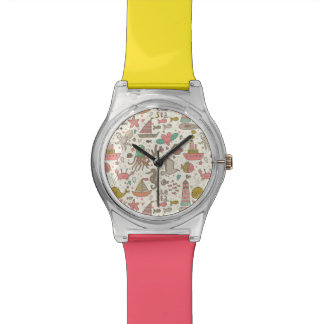 Funny Summer Pattern With Ships Watch
