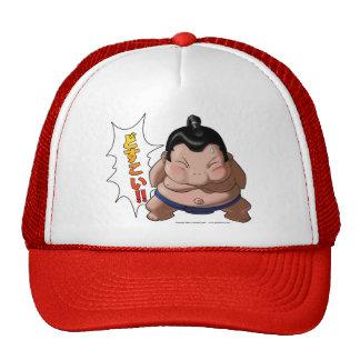 Funny Sumo Wrestler with Dosukoi Cap