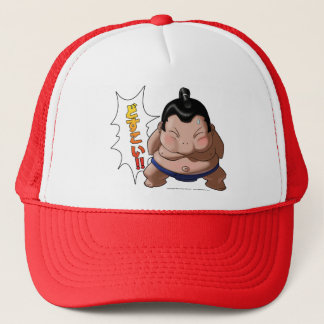 Funny Sumo Wrestler with Dosukoi Trucker Hat