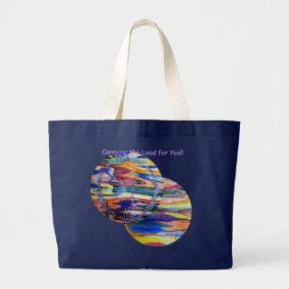 Funny Sun Faces, Carry the load for you jumbo tote Jumbo Tote Bag