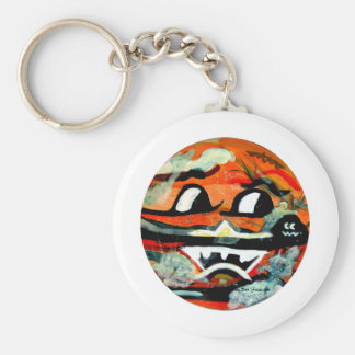 Funny Sun Faces Halloween Gifts Basic Round Button Key Ring