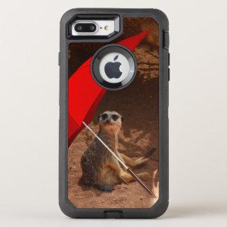 Funny Sun Smart Meerkat Under Umbrella, OtterBox Defender iPhone 8 Plus/7 Plus Case