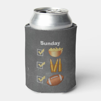 Funny Sunday Football Checklist Can Cooler