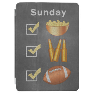 Funny Sunday Football Checklist iPad Air Cover