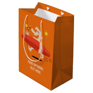 Funny Surfer with Cocktail custom gift bag