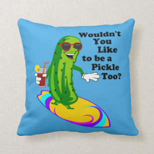 Funny Pickle Long Throw Body Pillows