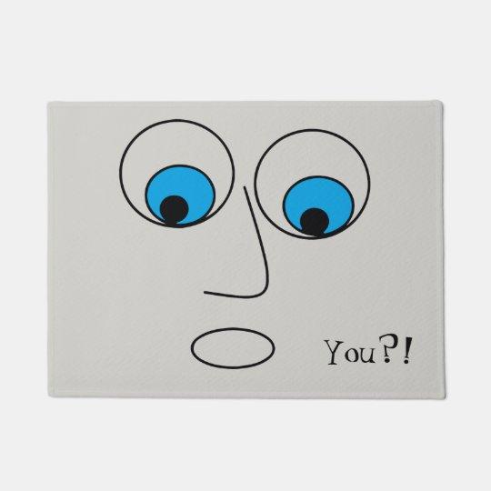 Funny Surprised Cartoon Face Doormat