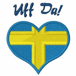 Funny Swedish Uff Da with Heart  Flag of Sweden Polo Shirts