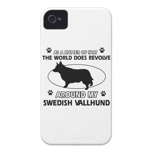 Funny swedish vallhund designs iPhone 4 cover