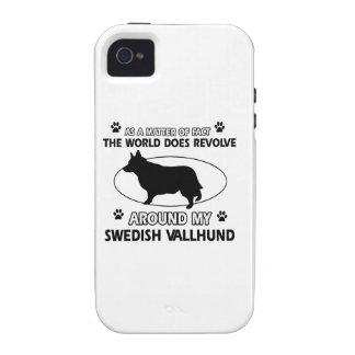 Funny swedish vallhund designs vibe iPhone 4 cover