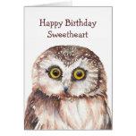 Funny Sweetheart Birthday Cute  Owl  -
