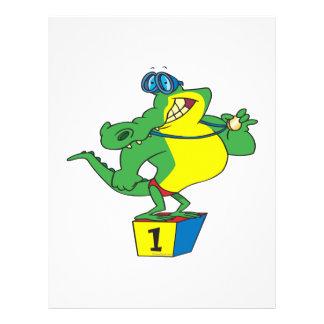 funny swimmer champ alligator crocodile 21.5 cm x 28 cm flyer