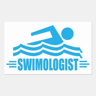 Funny Swimming Rectangular Sticker