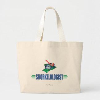Funny Swimming, Snorkel Jumbo Tote Bag