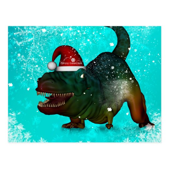Funny T-rex Postcard