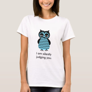 Funny T-Shirt Grumpy Cute Owl Custom Text T-Shirt