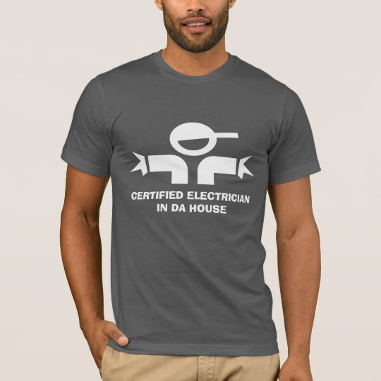 Funny t-shirt with quote for electricians
