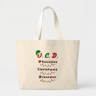 Funny Tacky Christmas Holiday Tote Bag