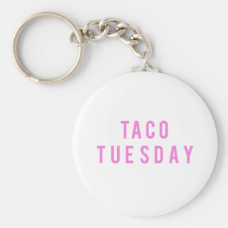 Funny Taco Tuesday Print Key Ring