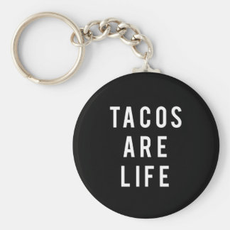 Funny Tacos Are Life Print Key Ring