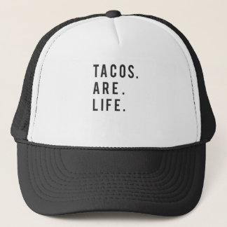 Funny Tacos Are Life Print Trucker Hat