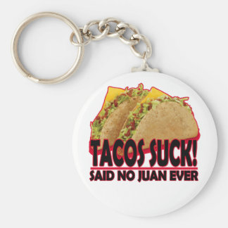 Funny - Tacos Suck.png Key Ring