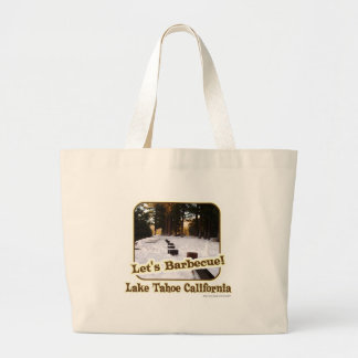 Funny Tahoe BBQ Jumbo Tote Bag