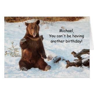Funny Talking Bear Birthday Greeting Card