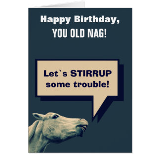Funny Talking Horse Greeting Card