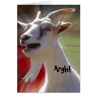 Funny Tallking Goat Photograph Greeting Card