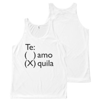 Funny Tank Top With Slogan For Spanish Speakers All-Over Print Tank Top
