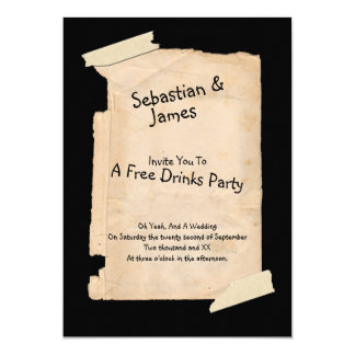 Funny Tatty Paper Humor Wedding 13 Cm X 18 Cm Invitation Card