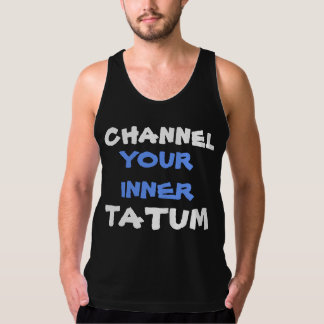 Funny Tatum Workout Muscle Handsome Dancer Pun Tank Top