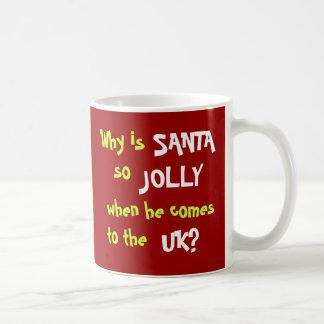 Funny Tax Accountant Christmas Joke UK Basic White Mug