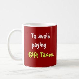 Funny Tax Accountant Christmas Joke USA mug