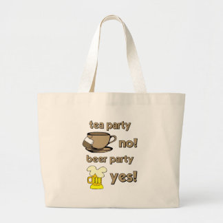 Funny tea party canvas bag
