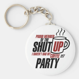 Funny tea party humor keychain