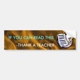 Funny Teacher Bumper Sticker