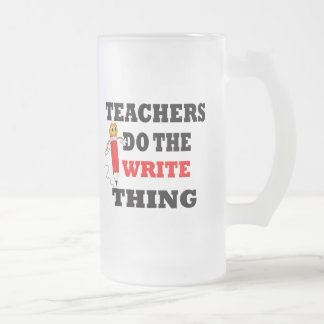 Funny Teacher Do the Write Thing Beer Mugs