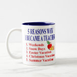 Funny Teacher Gift Two-Tone Mug