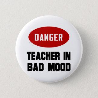 Funny Teacher in Bad Mood 6 Cm Round Badge