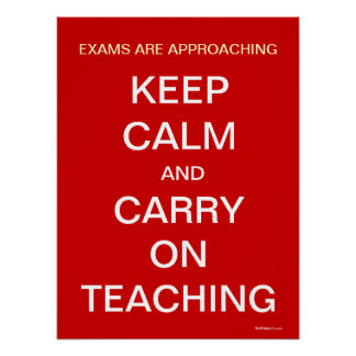 Funny Teacher Staff Room Poster Keep Calm Quote